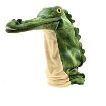 krokodil handpop 43 cm groen