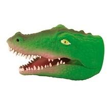 Handpop Krokodil donker groen 16 cm