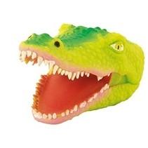 Handpop Krokodil licht groen 16 cm