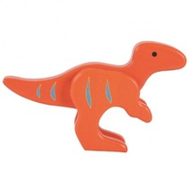 speelfiguur dinosaurus oranje 11x17x4 cm