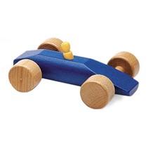 raceauto Speedy 15 cm blauw hout