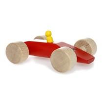raceauto Speedy 15 cm rood hout
