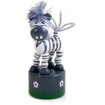 drukfiguur zebra zwart/wit 4,5 x 11 cm