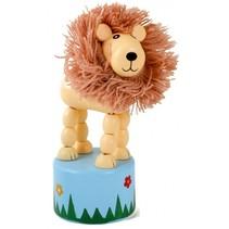 drukfiguur leeuw bruin 11 cm