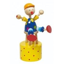 drukfiguurtje clown 12 cm geel