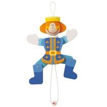 Trekpop Prins Blauw 22 cm
