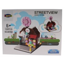 Mini City Streetview Candy Store bouwset 126-delig (657002)