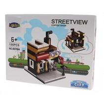Mini City Streetview Coffee Shop bouwset 130-delig (657004)