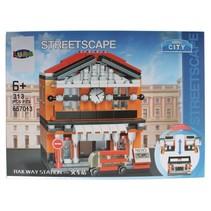Mini City Streetscape Railway Station bouwset 313-delig (657013)