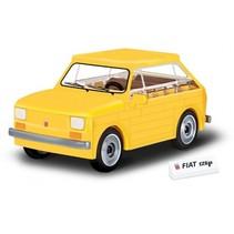 Youngtimer bouwpakket Fiat 126P 1:35 geel 71-delig 24530