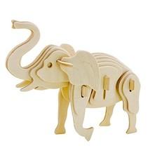 3D-puzzel olifant met verf 17 cm 27-delig