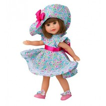 aankleedpop Irene 22 cm brunette