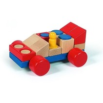Formule 1 racewagen 20 cm hout multicolor
