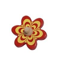 rood-gele bloem 10 cm hout