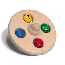 multicolor bellenschijf 10 cm hout