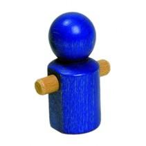 blauw mannetje 7 cm hout