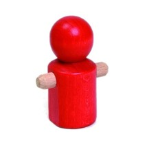 rood mannetje 7 cm hout