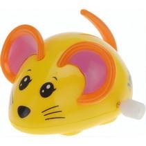 opwindfiguur muisje 7,5 cm geel