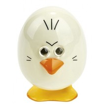 opwindbaar wandelend ei wit 6 cm witte ogen