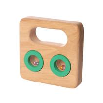rammelaar junior 9,1 cm hout blank/groen