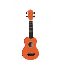 houten ukulele 53 cm met 4 snaren oranje