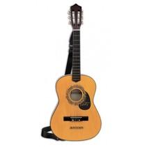 houten gitaar met 6 snaren en schouderband 92 cm