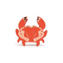 zeedier Krab junior 6,1 x 5,8 cm hout rood