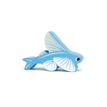 zeedier Vliegende Vis junior 6,9 cm hout blauw