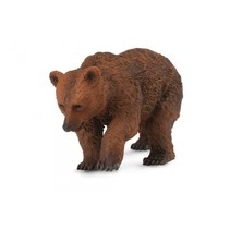 wilde dieren: beerwelp 6,5 cm bruin