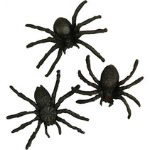 decoratie realistische spinnen 10 stuks
