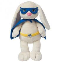 knuffel Superheld Bunny 38 cm pluche wit