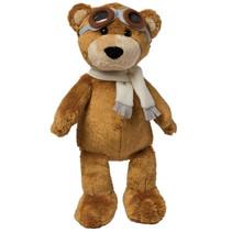 knuffel Aviator Bear 38 cm pluche bruin