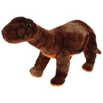 knuffel dinosaurus bruin 42 cm