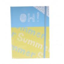 schrift oh summer blauw/geel 21 cm