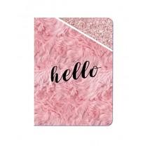 schrift  hello roze 14 cm