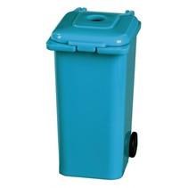 puntenslijper afvalcontainer 7 cm blauw