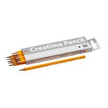 potlood HB driehoekig 2 mm 17,5 cm 12 stuks