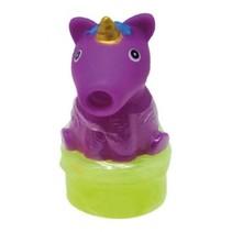 slijmfiguur unicorn 7 cm paars/geel