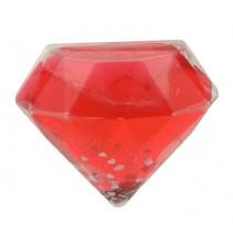 glitterslijm diamant 8 cm rood