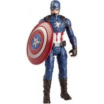 speelfiguur Marvel Captain America 15 cm rood/blauw