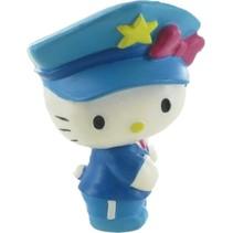 speelfiguur Hello Kitty: Police 6 cm wit
