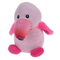 knuffel flamingo 14 cm roze