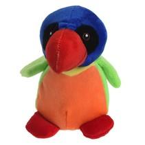 knuffel tropische vogel14 cm multicolor
