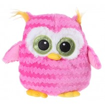 Planet Pluch knuffel uil 43 cm roze