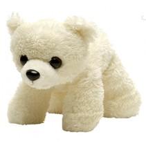 Hug'Ems knuffel: ijsbeer 18 cm wit