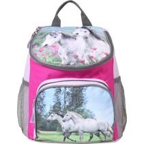 rugzak paarden 9 liter lila/roze