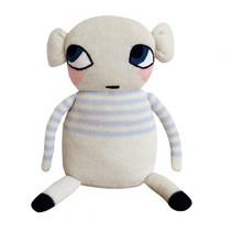 knuffelpop 30 cm alpaca wol wit