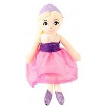 knuffelpop prinses paars 38 cm