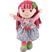 knuffelpop Rag Doll Soft Friends lichtblauw/roze 30 cm