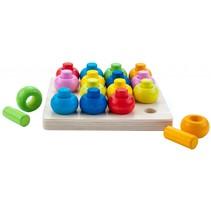 leerspel ronde vorm op kleur 21 cm